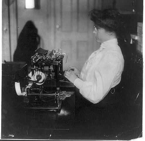 Woman Typist library of congress